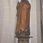 """""""Puggen-Anton"""" ist der Namenspatron der Loikumer Kirche. Der Heilige ist als Figur im Mittelschiff zu sehen."""