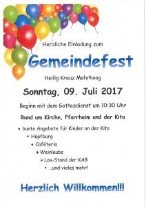 Gemeindefest Mehrhoog