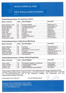 Gemeindeausschusswahl Kandidaten2