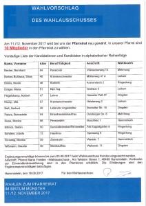Pfarreiratswahl Kandidaten