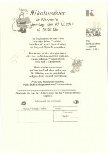 KAB Nikolausfeier 3. Dezember