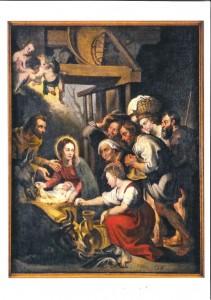 Kopie eines Kupferstichs von Lucas Vorstermann aus dem Jahre 1620 nach einem Originalgemälde von Peter Paul Rubens um 1619. Pfarrei Maria Frieden Hamminkeln St. Antonius Loikum
